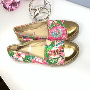 LILLY PULITZER  Espadrilles. Nosie Posey Gold Toe6